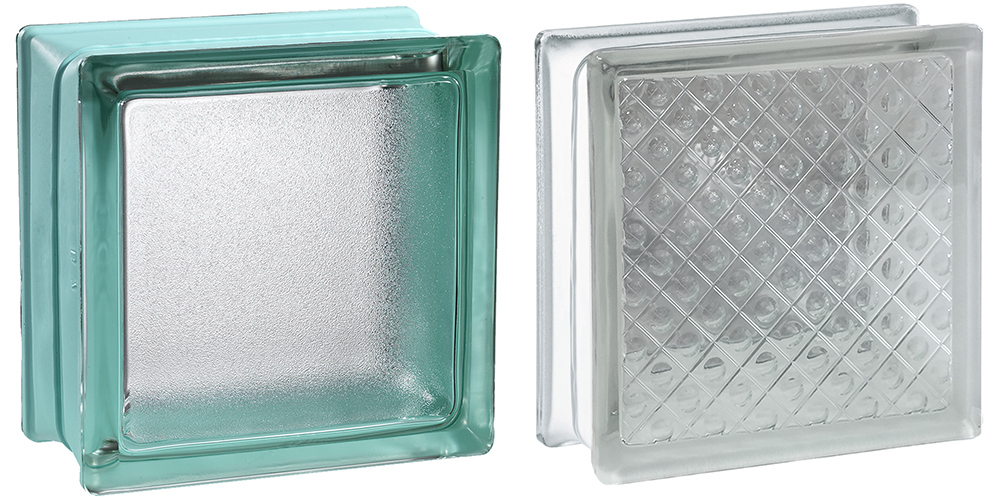 two different types of glass block styles