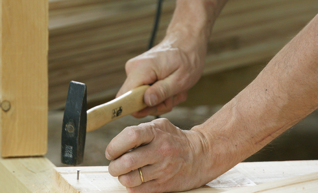 Illustration of someone laying hardwood boards