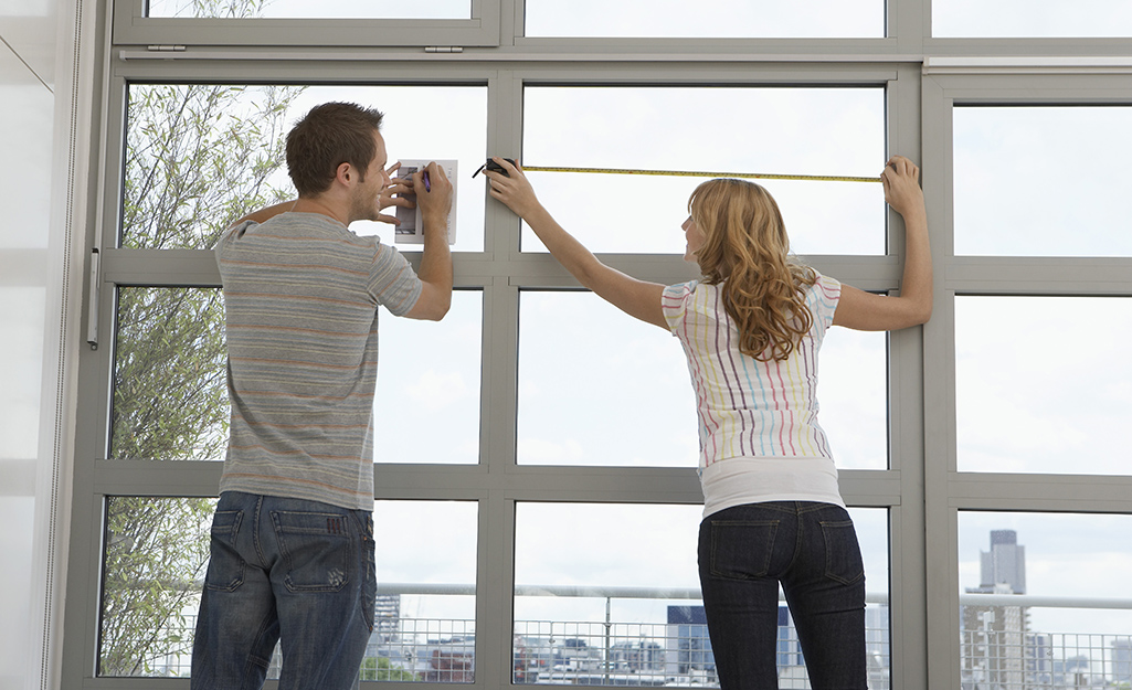 Install the brackets - How Install Horizontal Blinds