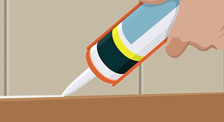 Seal seams - Install Laminate Countertop