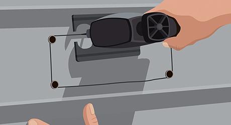 Cut siding - How Install Range Hood