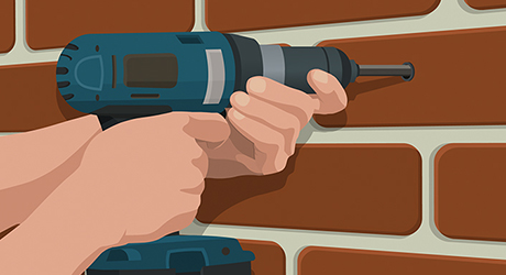 Venting through masonry wall - How Install Range Hood
