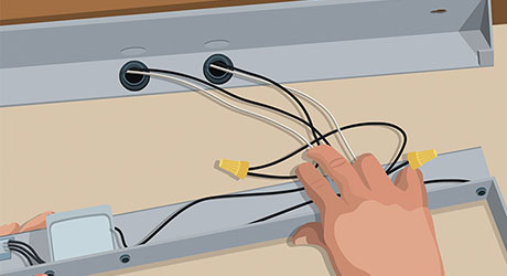 Tremendous How To Install Under Cabinet Lighting The Home Depot Wiring Digital Resources Remcakbiperorg
