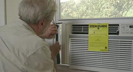 secure the air conditioner