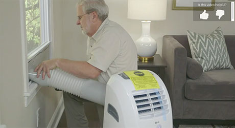 install a portable air conditioner