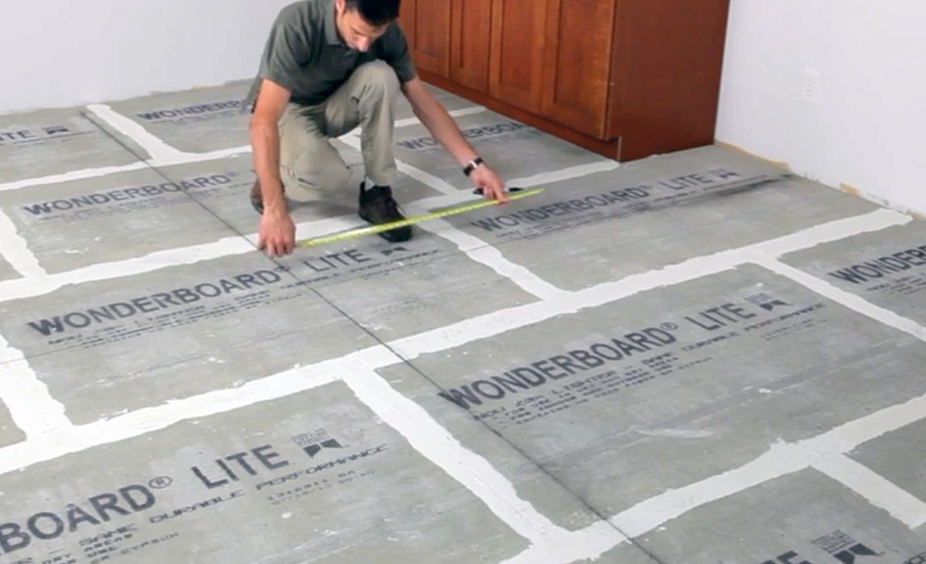 Establish Layout Line - Lay Out Floor Tiles