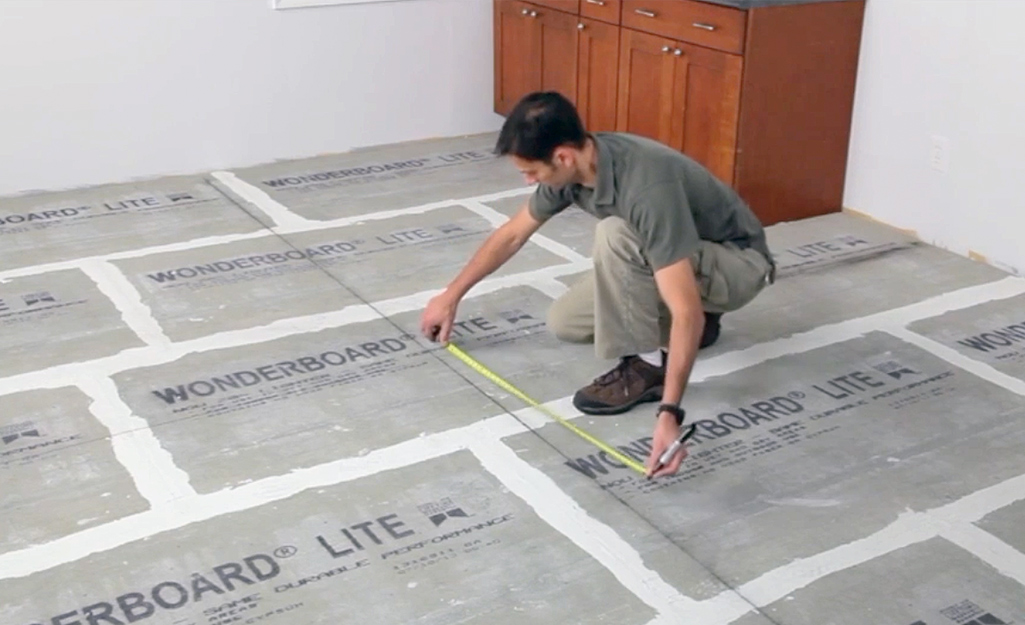 Measure Mark Layout Grid - Lay Out Floor Tiles