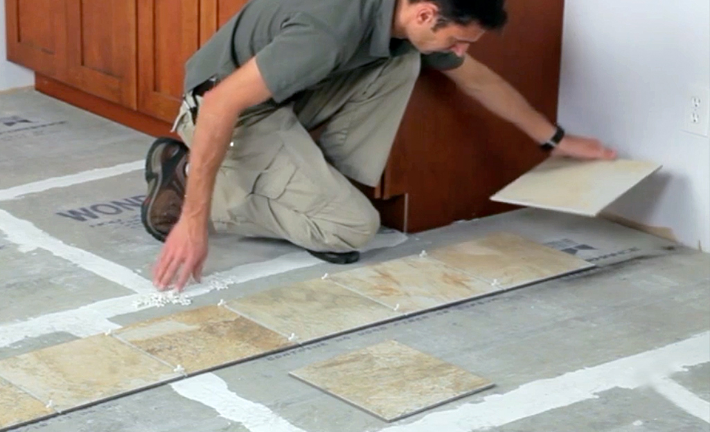 Divide Manageable Sections - Lay Out Floor Tiles