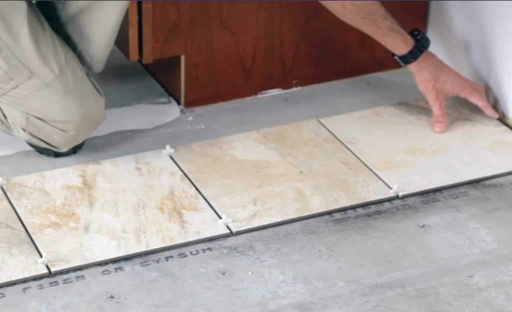 Determine Section Sizes - Lay Out Floor Tiles