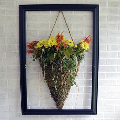 Make a Farmhouse Style Moss Cone