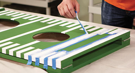 Paint or stain - DIY Football Toss