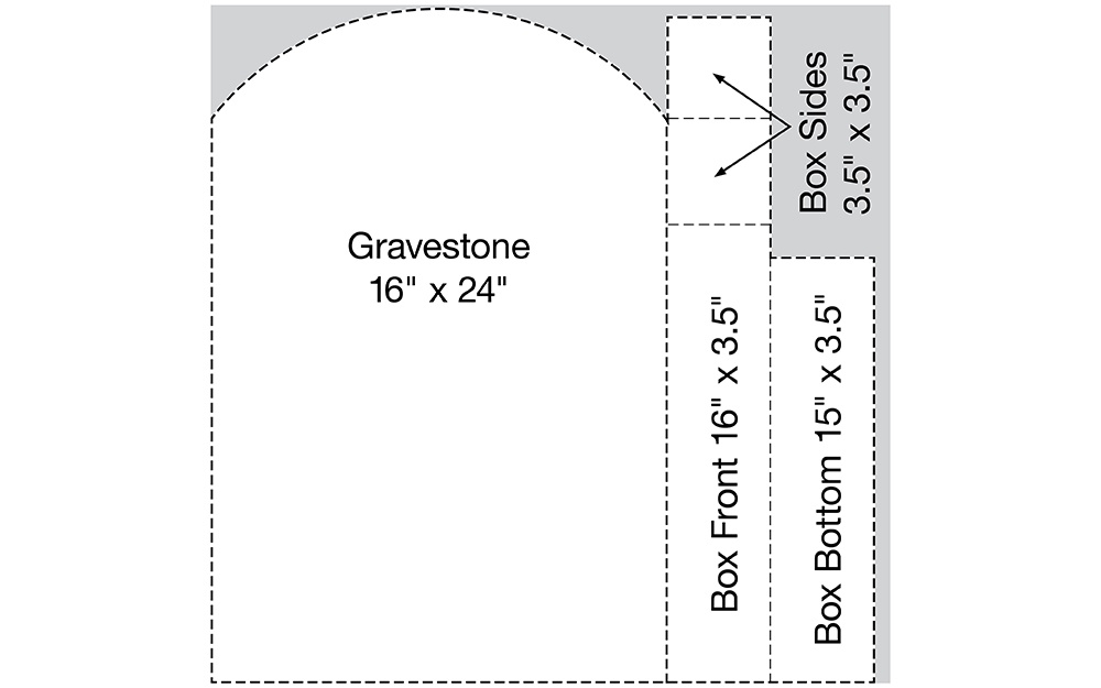Diagram that shows the cut list