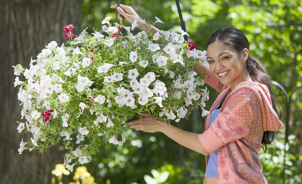 how-to create hanging flower baskets step 4