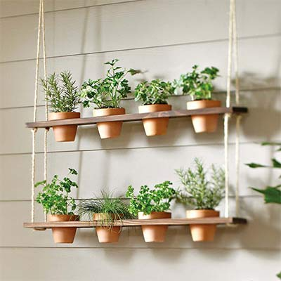How to Make a Hanging Herb Garden Planter