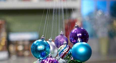 Tie strands together - Make Hanging Ornament Chandelier