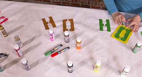 Paint backdrop - Make Holiday Photo Booth