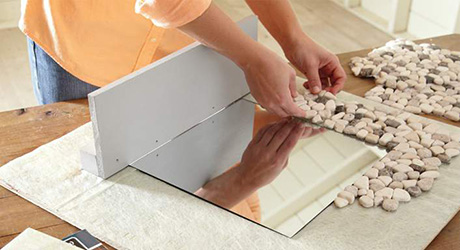 APPLY SIMPLEMAT- How Make Mosaic Tile Mirror