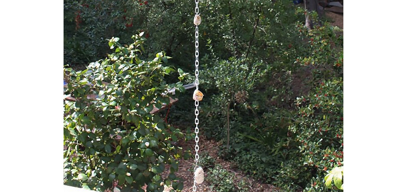 How To Make A Rain Chain From Rocks The Home Depot