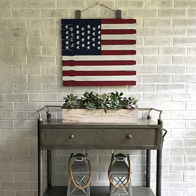 How to Make a Wood Flag Wreath