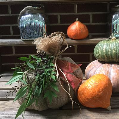 How to Make Burlap Pumpkins