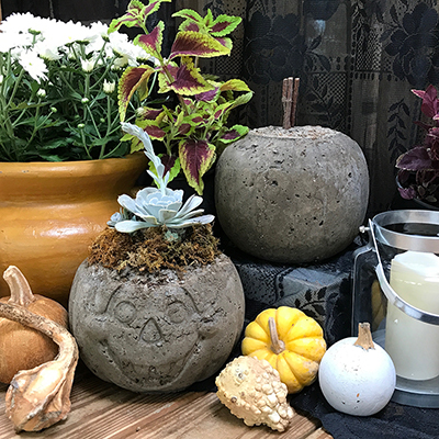 How to Make Decorative Hypertufa Pumpkins