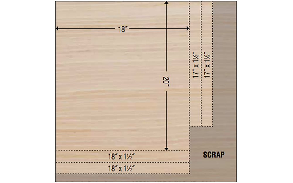 A cut diagram for creating the DIH dry erase menu board.