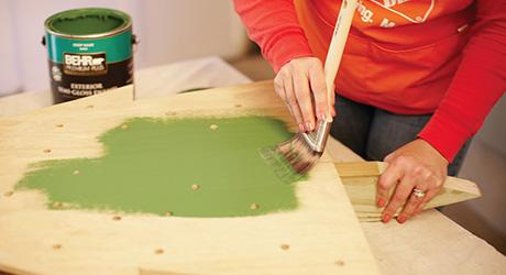 Paint stain - Make Holiday Tree Yard Decor