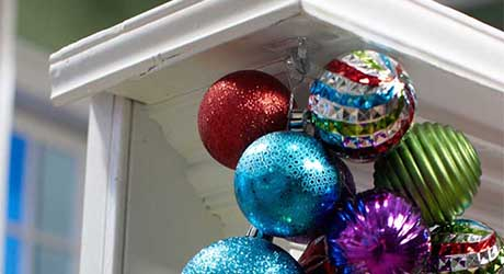 Christmas Ball Garland.How To Make Ornament Garland The Home Depot