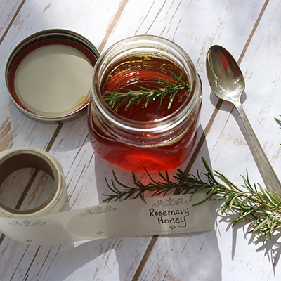 How to Make Rosemary Honey