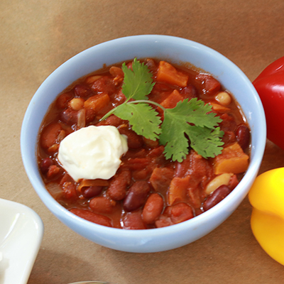 Make This Chili Full of Fresh Herbs and Peppers