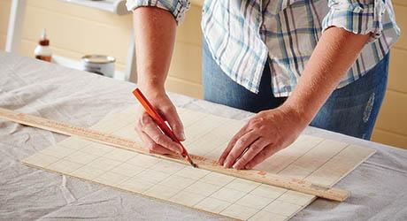 Draw grid - Make Wood Stocking Door Hanger