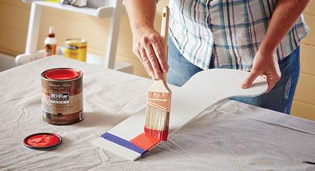 Sand paint stocking - Make Wood Stocking Door Hanger