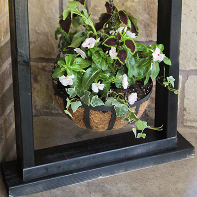 How to Make a Wooden Plant Stand - The Home Depot on Hanging Plant Stand  id=87362