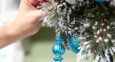 Attach ornaments - Make Wreath Chandelier