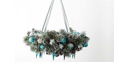 Attach ceiling hardware - Make Wreath Chandelier
