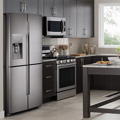 stainless-steel-refrigerator-in-a-kitchen