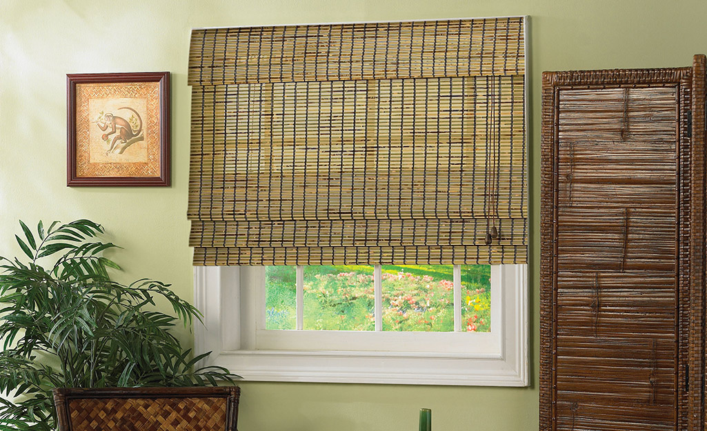 Outside mount blinds in a home.
