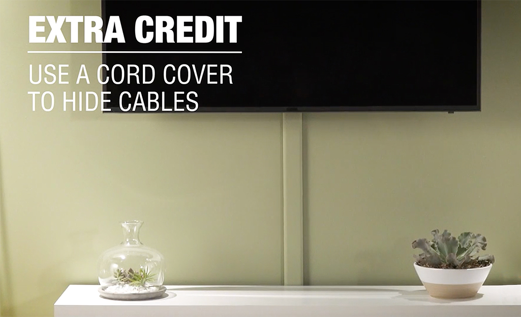 Use A Cord Cover To Hide Cables