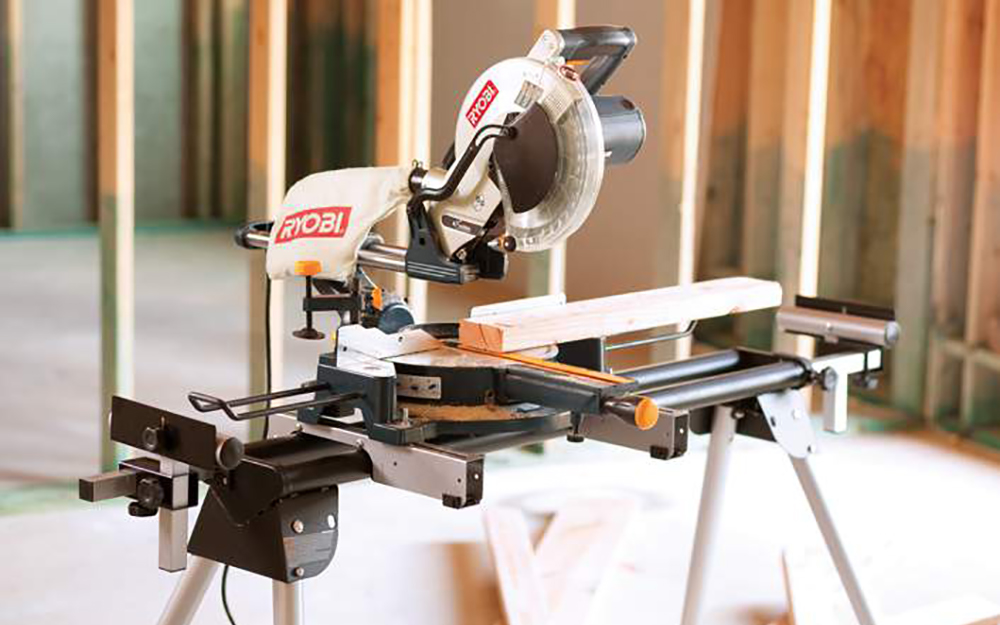 Secure saw before cuts - Operating Power Mitre Saws