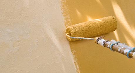 Bắt đầu mỗi con lăn chải lông mày - Paint House Exterior