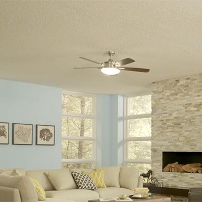 A popcorn ceiling.