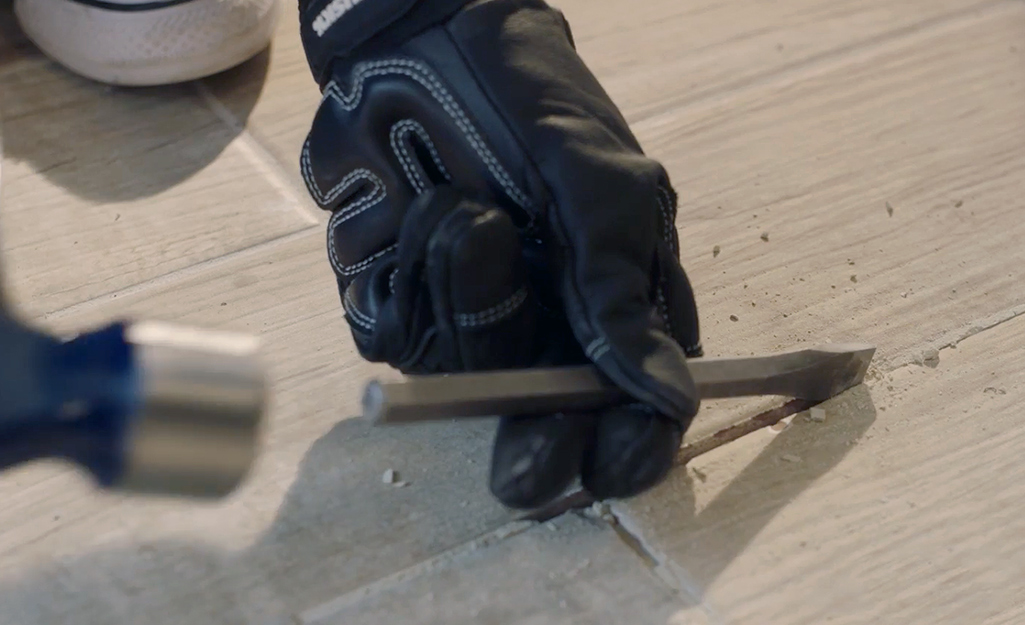 Chip away at the tile - Removing Ceramic Tile