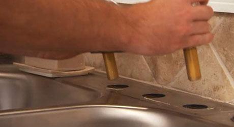 Remove the faucet - Remove Kitchen Faucet