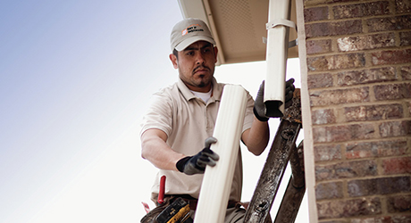 Clean Joints Replace Gaskets  - Repair Leaky Gutter