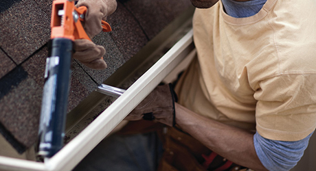 Apply Silicone Reassemble - Repair Leaky Gutter