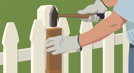 Add  sister post - Repairing  Maintaining Fences and Gates