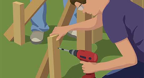 Brace the post - Repairing  Maintaining Fences and Gates
