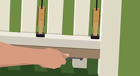 Add  sister rail - Repairing  Maintaining Fences and Gates