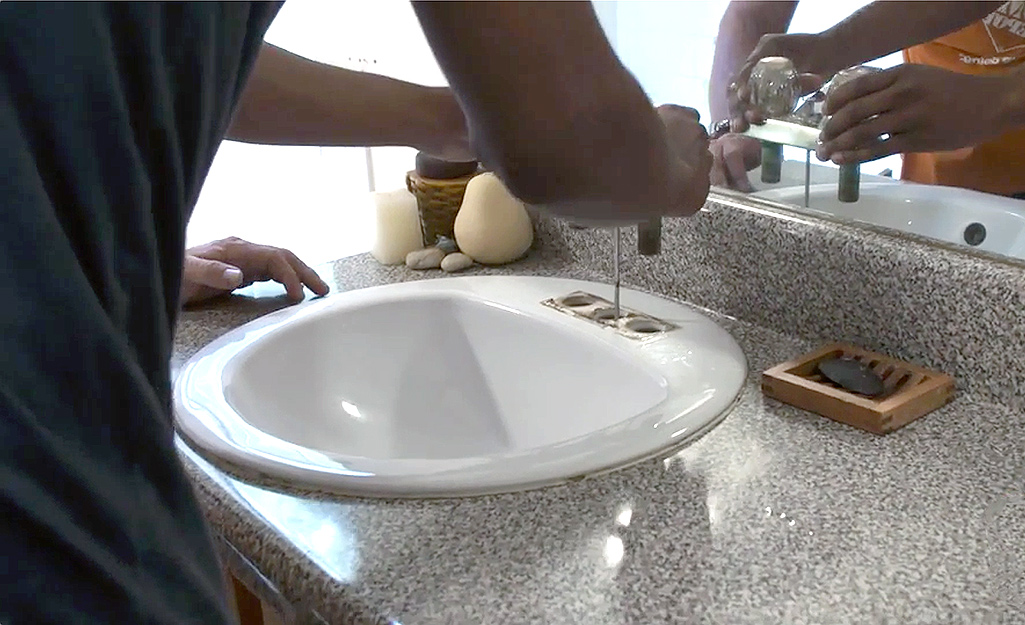 How To Replace A Bathroom Faucet The Home Depot