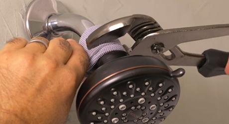 Fixed-mount showerhead - Installing New Showerhead